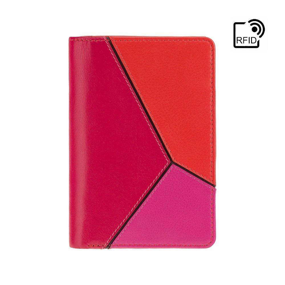 Женский кожаный кошелек Visconti BRC97 с защитой RFID Rosa (Berry Kiss)