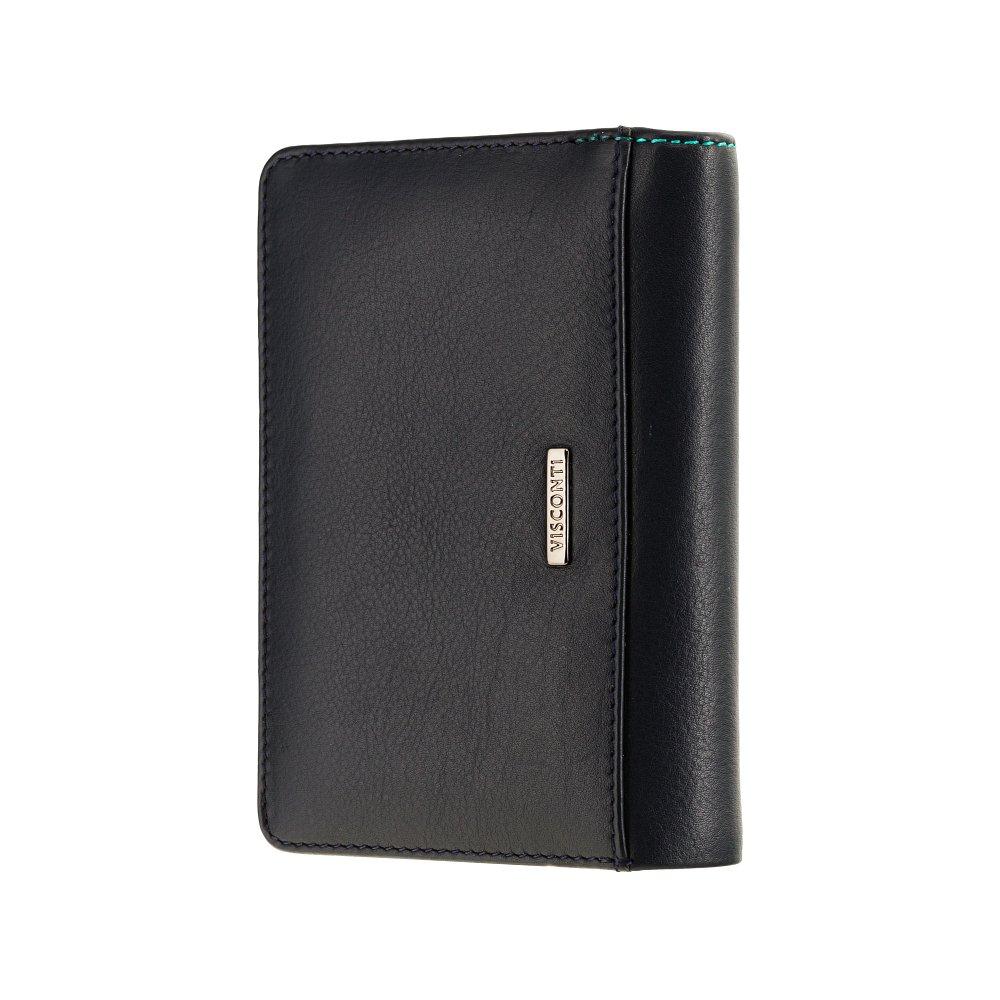 Женский кожаный кошелек Visconti BRC97 с защитой RFID Rosa (Blue Bell)