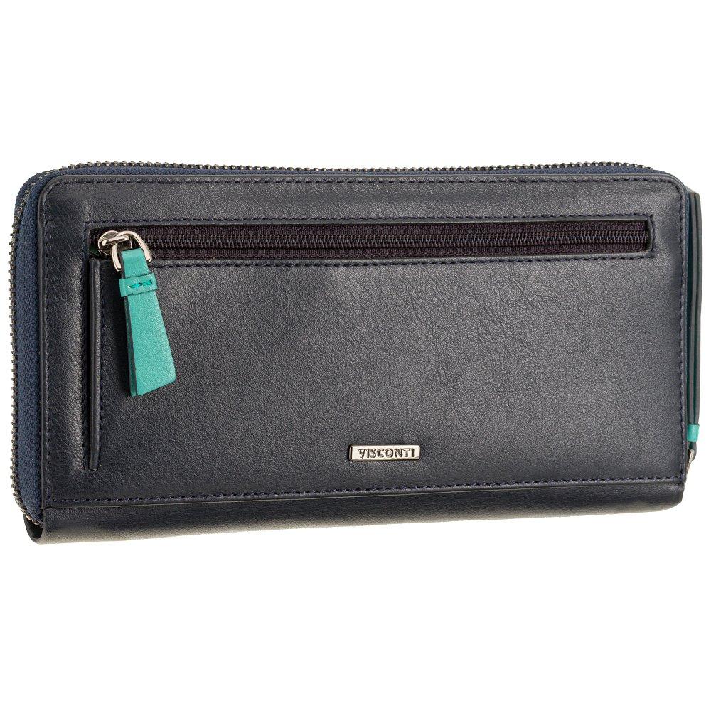 Женский кожаный кошелек Visconti BRC98 с защитой RFID Julia (Blue Bell)
