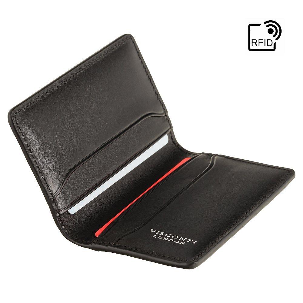 Кожаный картхолдер Visconti ENZ75 Ascari (Black Shadow)