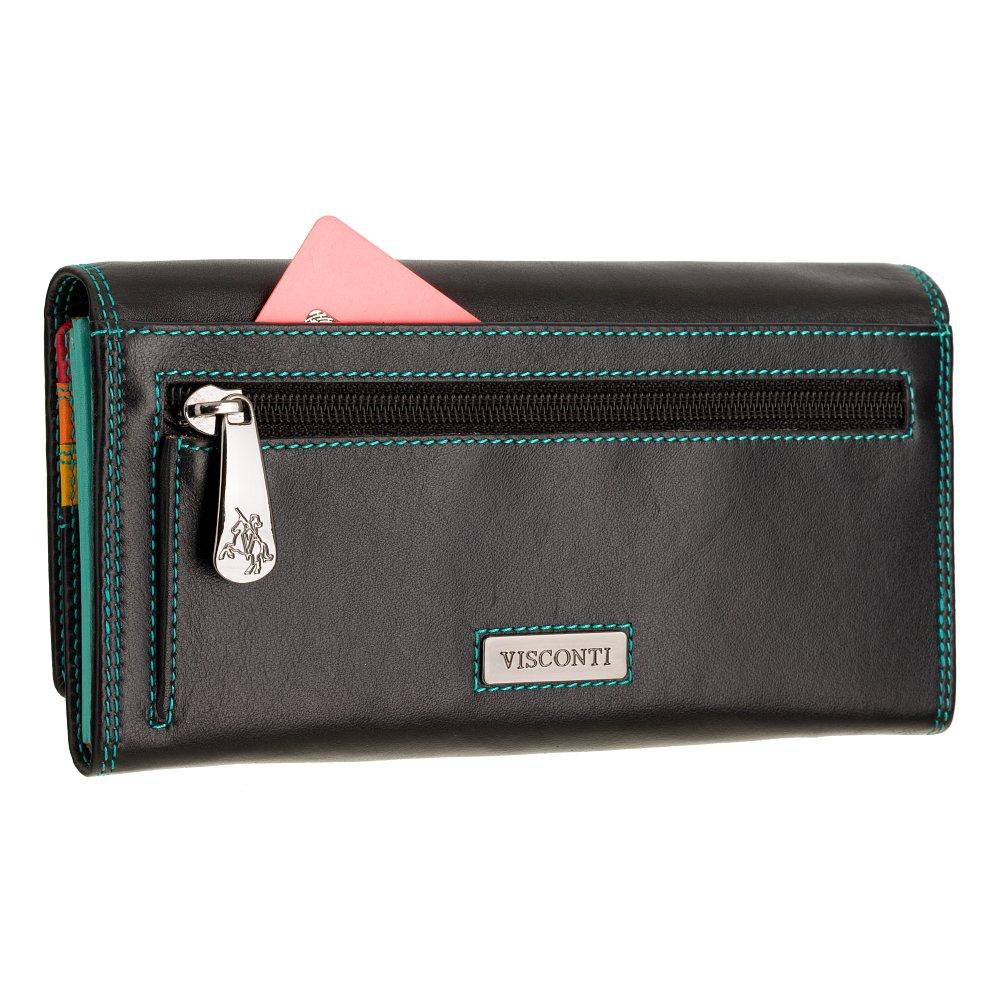 Женский кожаный кошелек Visconti R11 Paloma (Black/Rhumba)