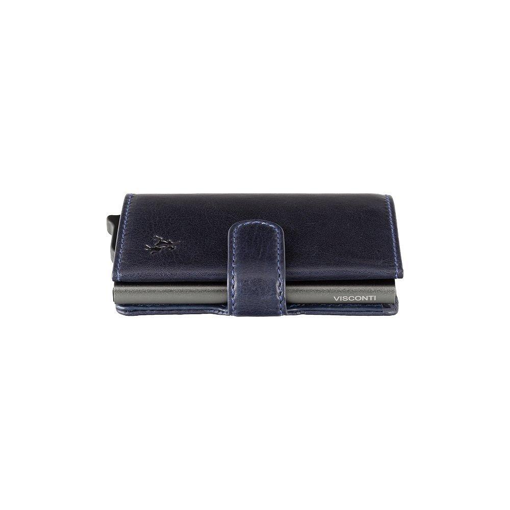 Кожаный кошелек-картхолдер Visconti VSL59 Fireblade (Blue)