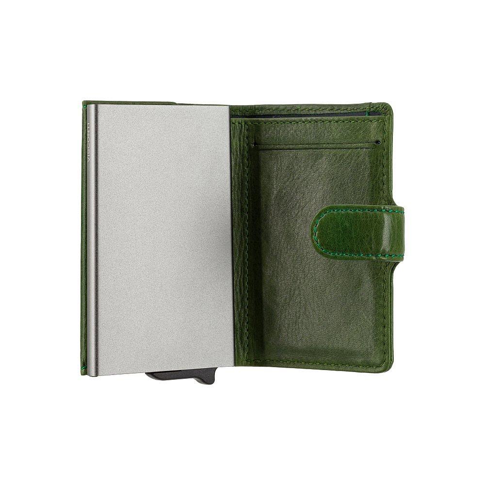 Кожаный кошелек-картхолдер Visconti VSL59 Fireblade (Green)