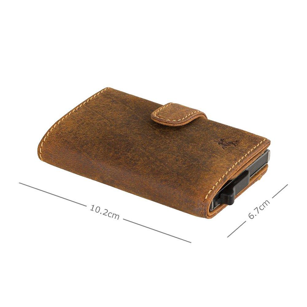 Кожаный кошелек-картхолдер Visconti VSL59 Fireblade (Oil Tan)