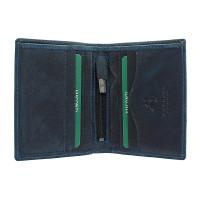 Мужской кожаный кошелек Visconti 705 - Arrow (oil blue)