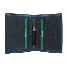 Мужской кожаный кошелек без монетницы Visconti 705 - Arrow (oil blue)
