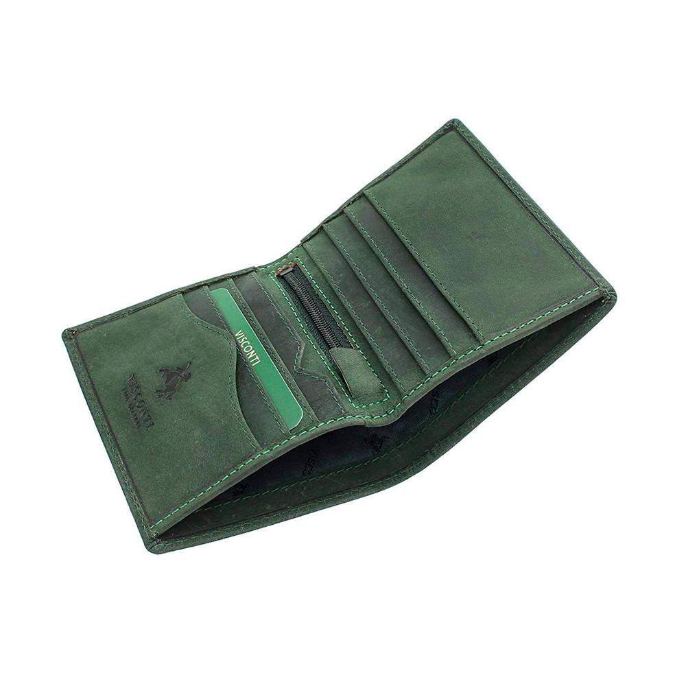 Мужской кожаный кошелек без монетницы Visconti 705 - Arrow (oil green)