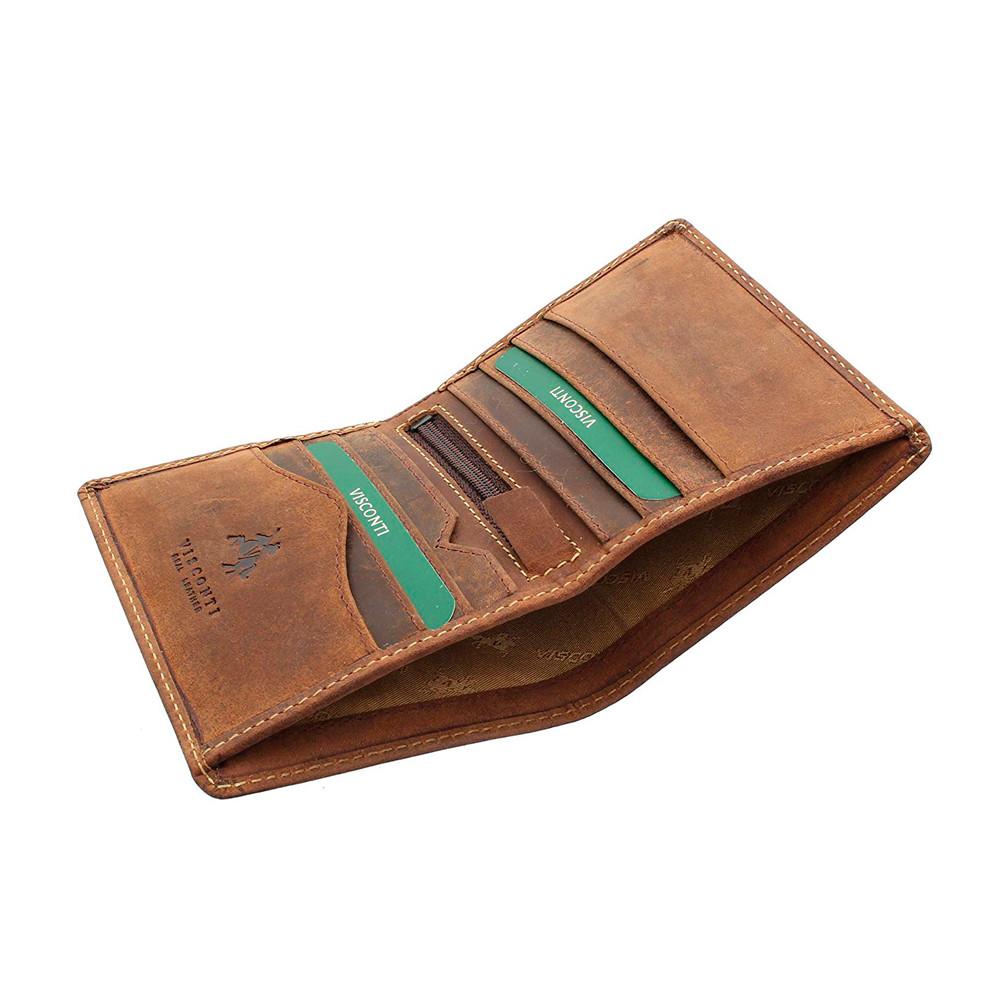 Мужской кожаный кошелек Visconti 705 - Arrow (oil tan)