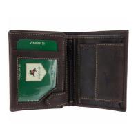 Мужской кожаный кошелек Visconti 708 - Spear (oil brown)