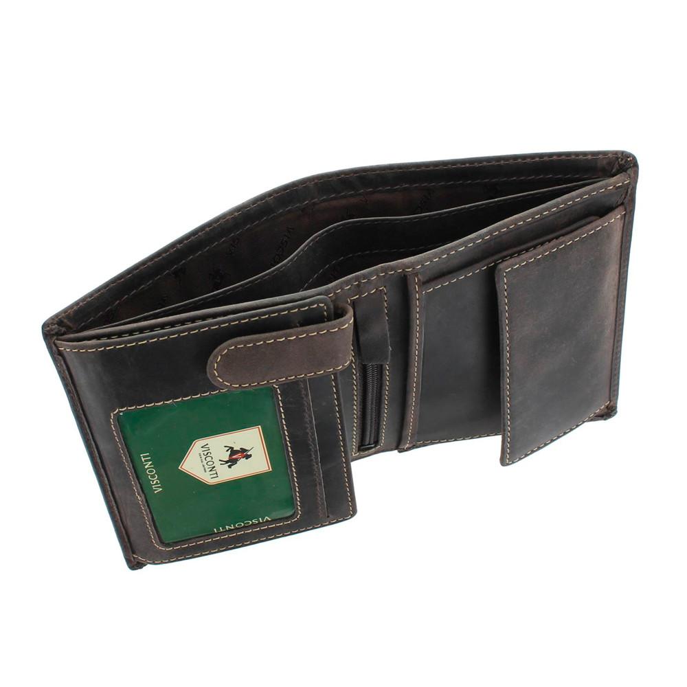 Мужской кожаный кошелек Visconti 709 Rifle (oil brown)