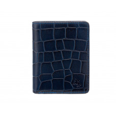 Мужской кожаный кошелек Visconti CR91 - Caiman (blue)