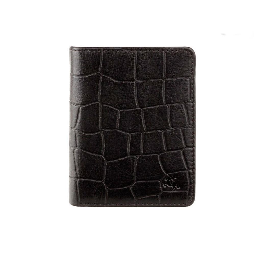 Мужской кожаный кошелек Visconti CR91 - Caiman (black)