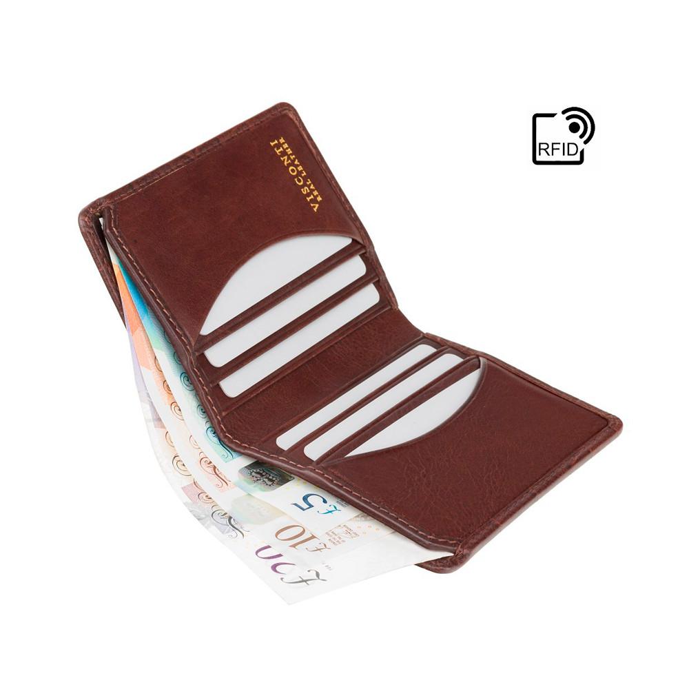 Мужской кожаный кошелек Visconti CR91 - Caiman (brown)