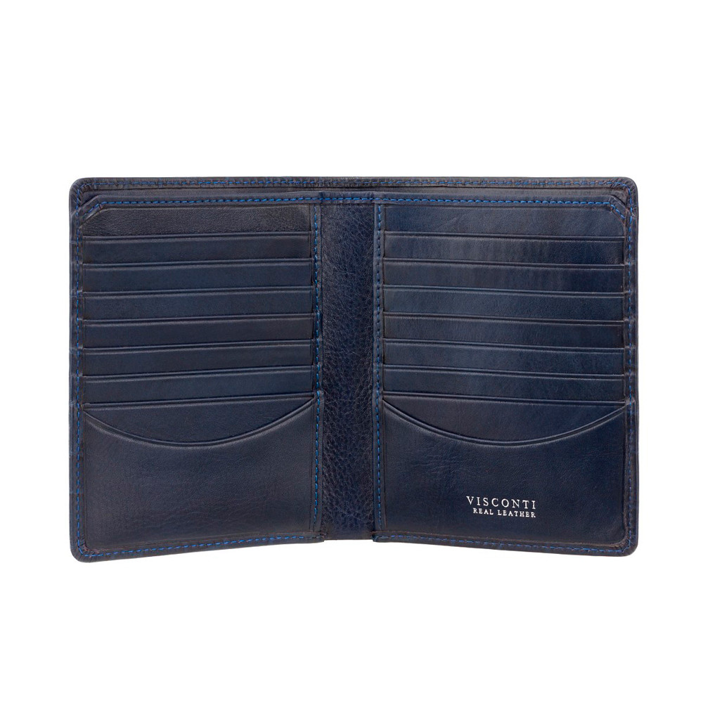 Мужской кожаный кошелек Visconti CR93 - Predator (blue)