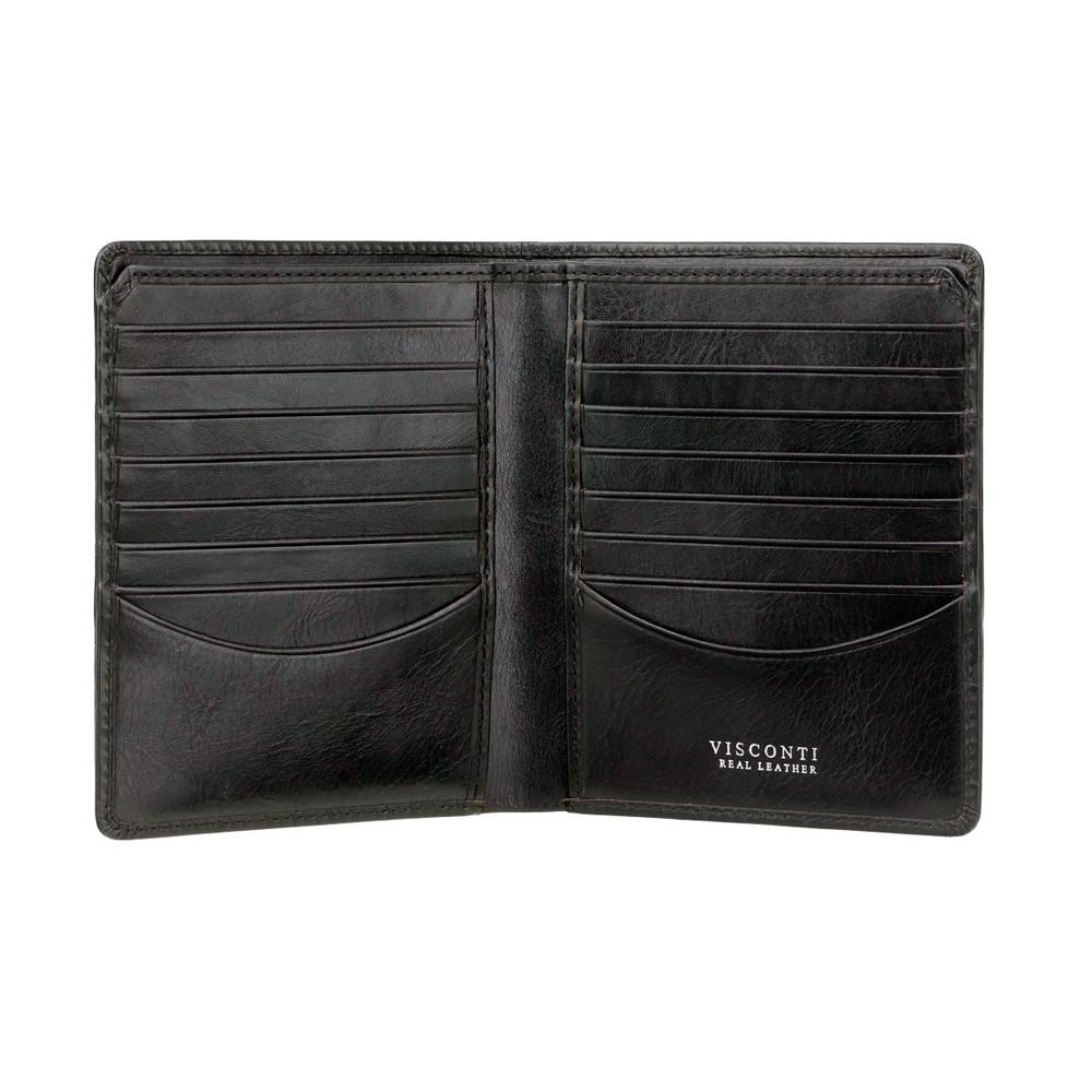 Мужской кожаный кошелек Visconti CR93 - Predator (black)