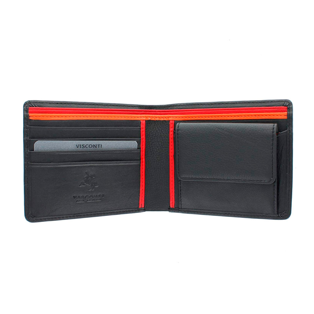 Мужской кожаный кошелек Visconti BD10 - M (crim multi)