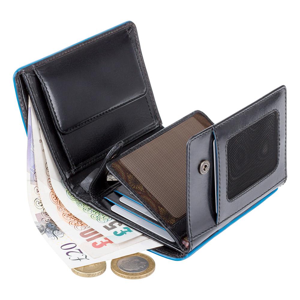 Мужской кожаный кошелек Visconti ALP87 с защитой RFID - Ralph (Italian black)