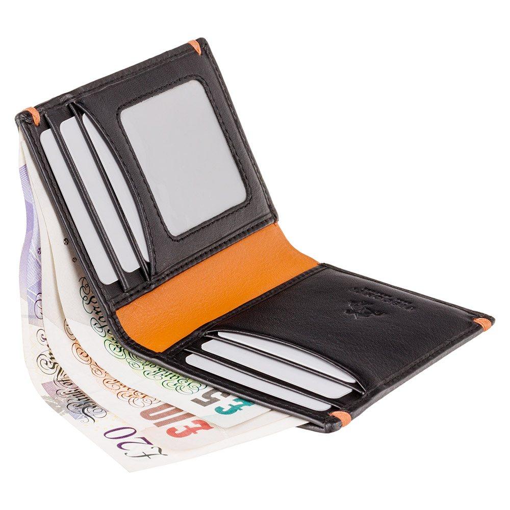 Мужской кошелек Visconti AP60 - Thun (Black/Orange)