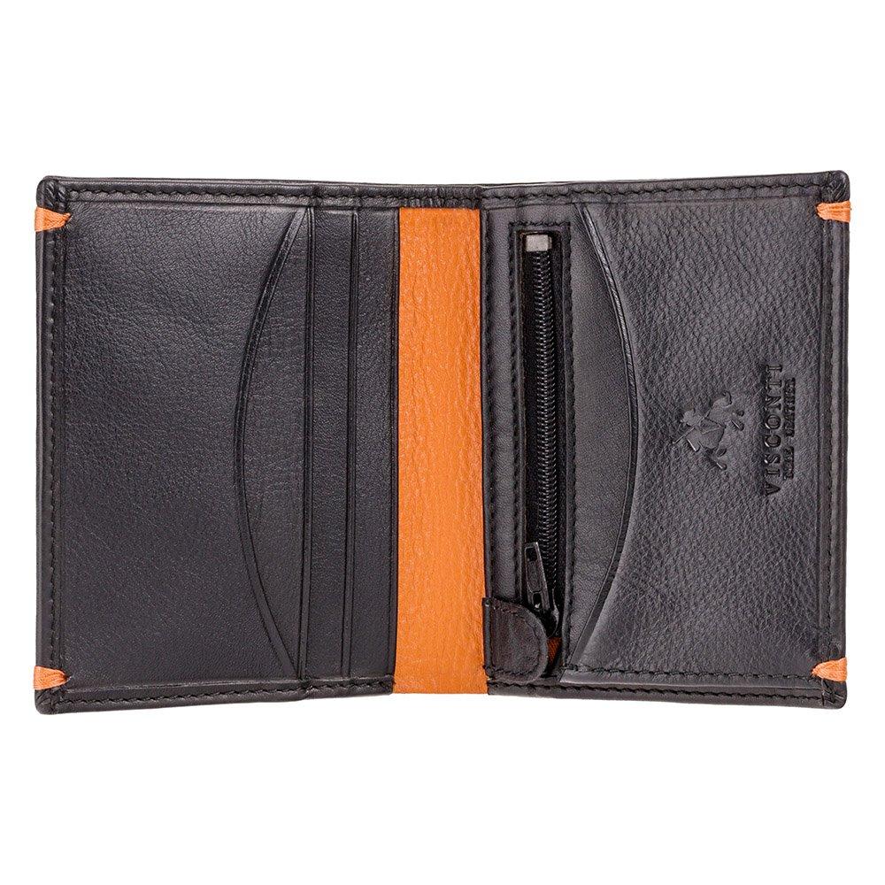 Мужской кошелек Visconti AP61 - Brig (Black/Orange)