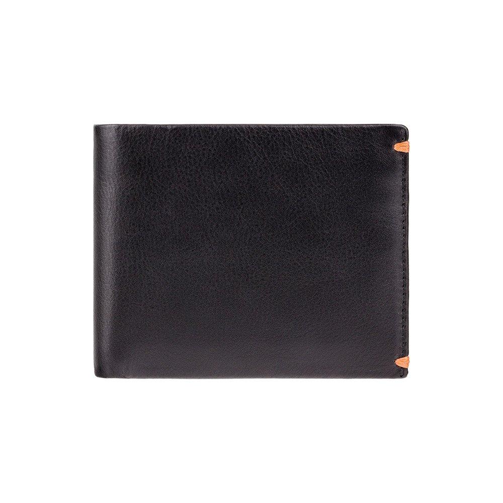 Мужской кожаный кошелек Visconti AP62 - Montreux (Black/Orange)