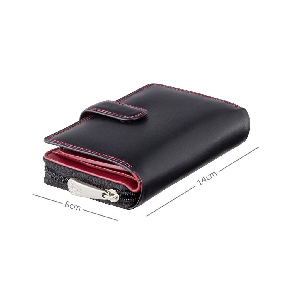 Женский кошелек Visconti CD22 - Ruby (black-red)