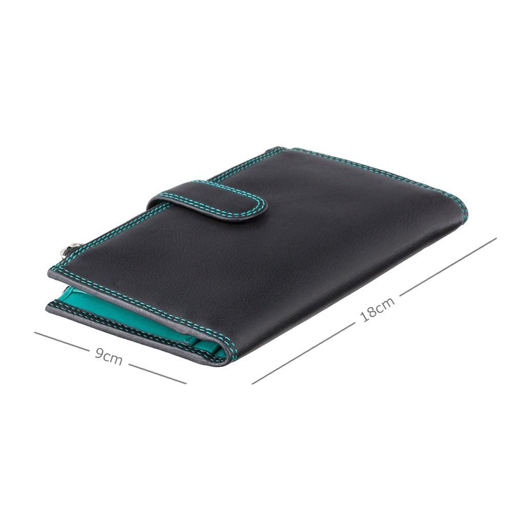 Женский кошелек на застежке Visconti CD23 - Jade (black-aqua)