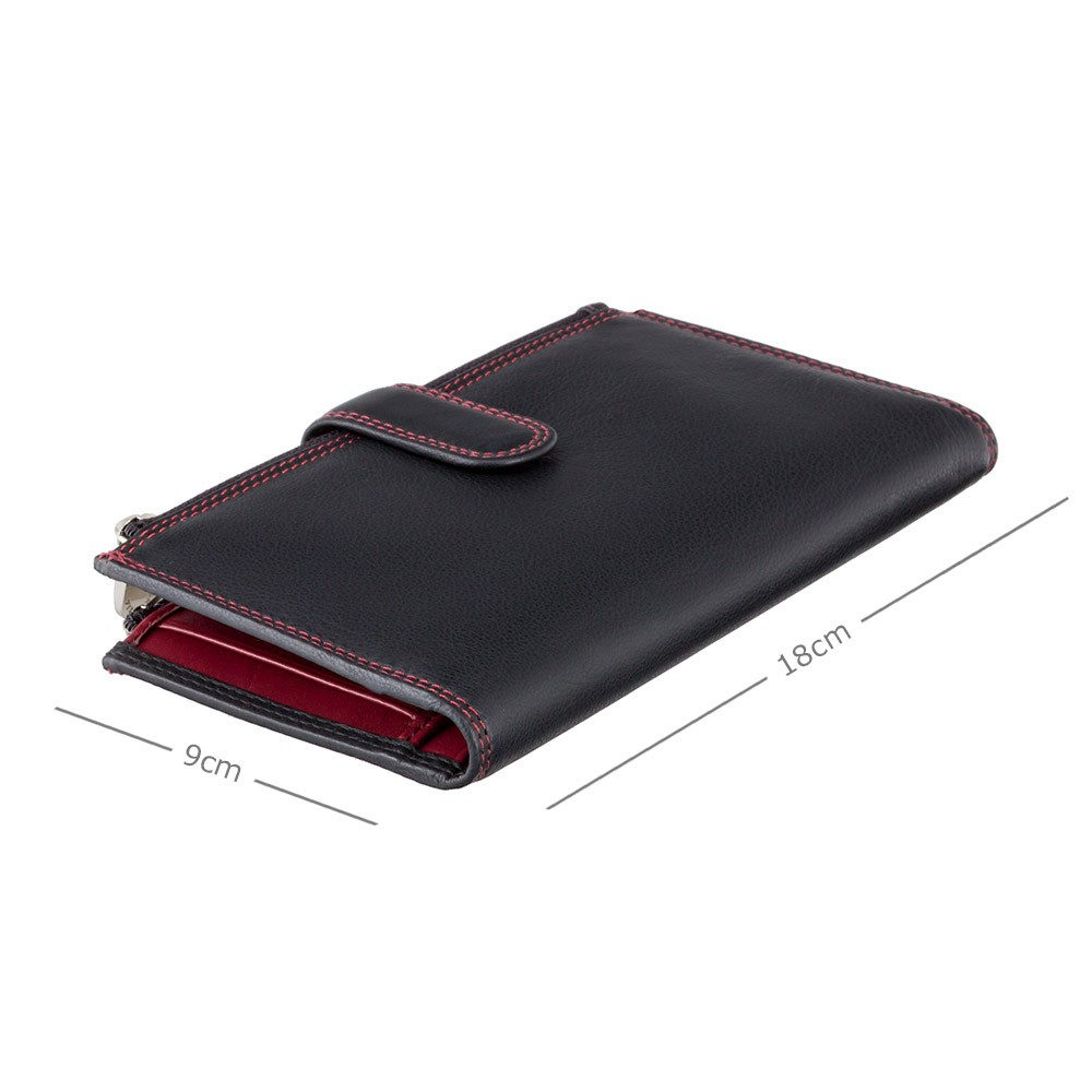 Женский кошелек на застежке Visconti CD23 - Jade (black-red)