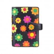 Женский кошелек на застежке в цветочки Visconti DS82 - Spanish (black)