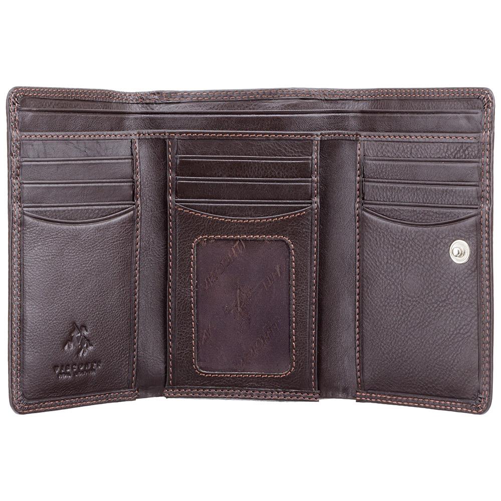 Женский кожаный кошелек Visconti HT32 - Picadilly (choc)