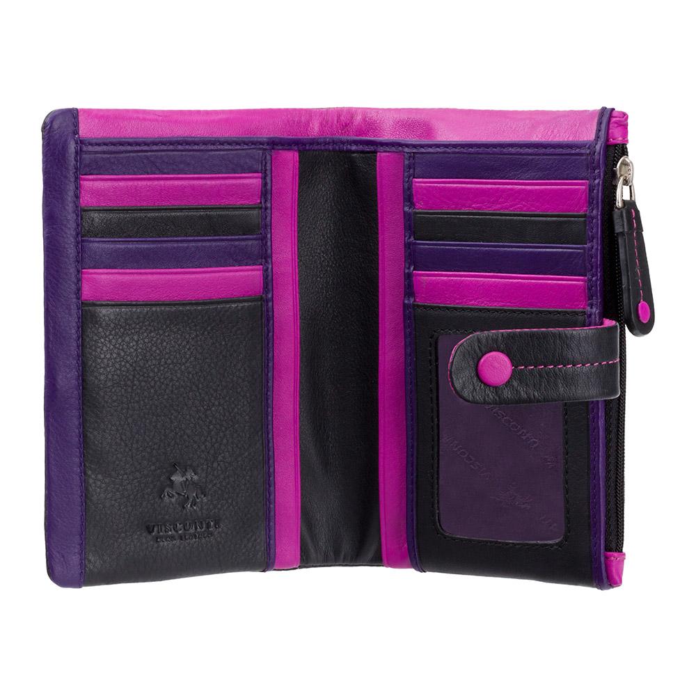 Женский кожаный кошелек Visconti M87 - Malibu (black multi)