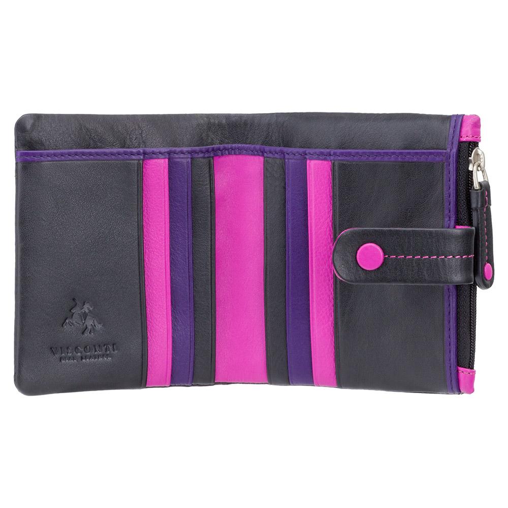 Женский кожаный кошелек Visconti M77 - Mojito (black multi)