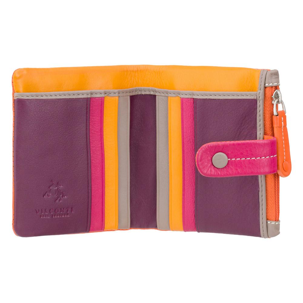 Женский кожаный кошелек Visconti M77 - Mojito (orange multi)
