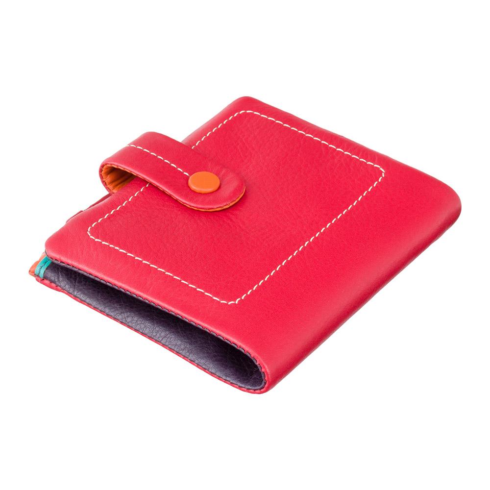 Женский кожаный кошелек Visconti M77 - Mojito (red multi)