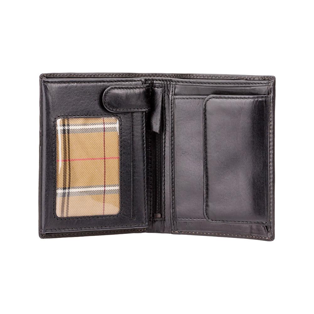 Мужской кожаный кошелек Visconti MZ3 - Milan (black)