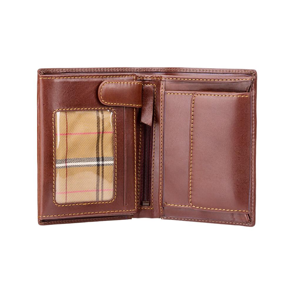 Мужской кожаный кошелек с монетницей Visconti MZ3 с RFID - Milan (Brown)