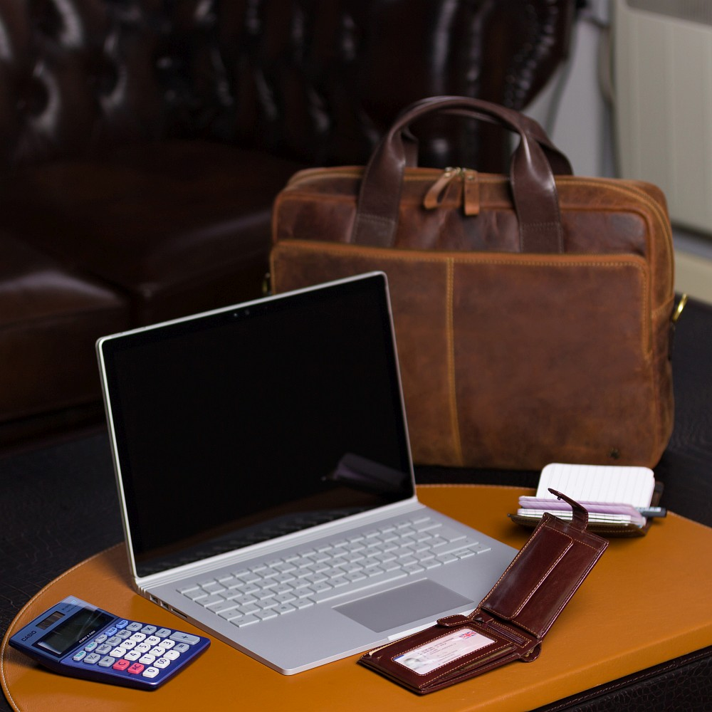 Мужской кожаный кошелек Visconti MZ5 - Rome (brown)