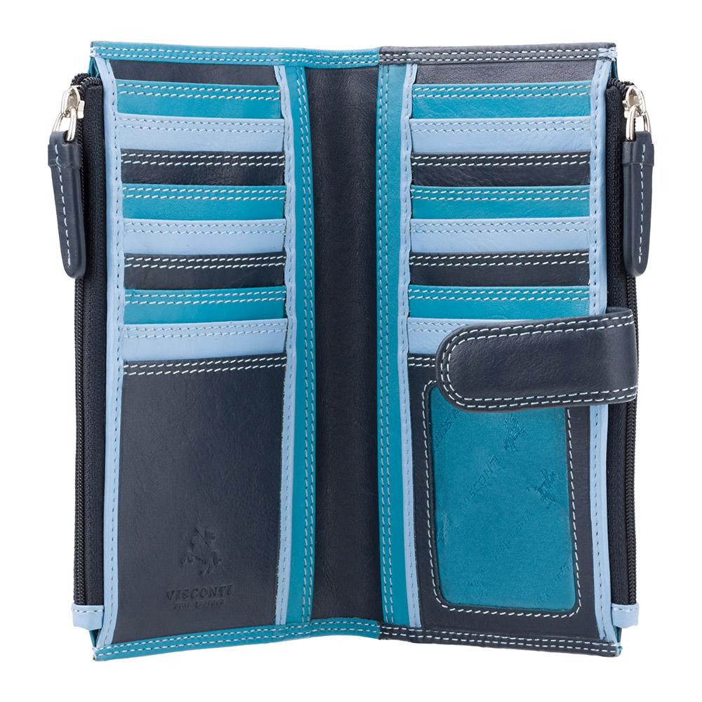 Женский кошелек Visconti RB100 - Bermuda (Blue Multi)