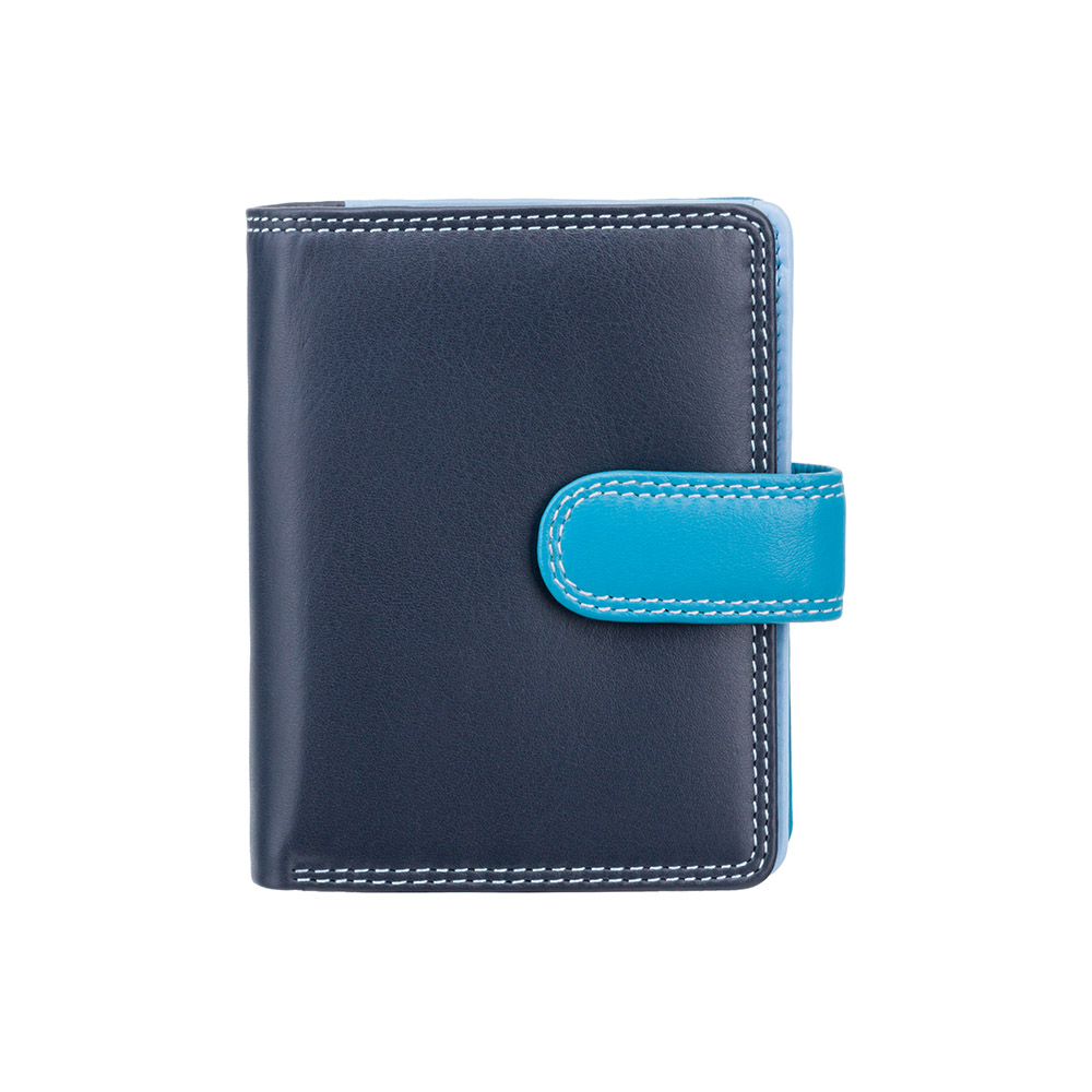 Женский кожаный кошелек Visconti RB40 с RFID  Bali (Blue Multi)