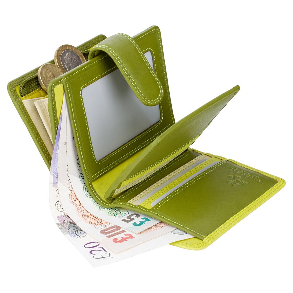 Женский кошелек Visconti RB40 с RFID - Bali (Lime Multi)