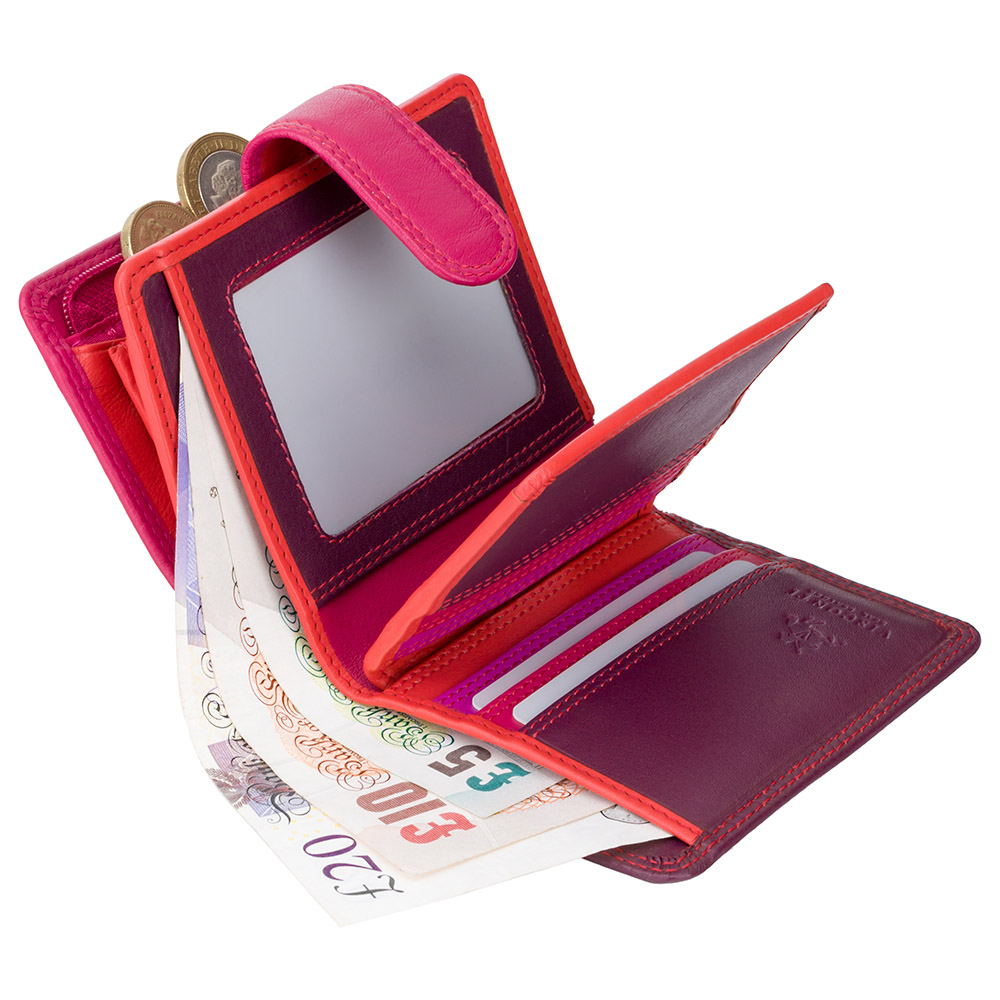 Женский кошелек Visconti RB40 с RFID - Bali  (Plum Multi)