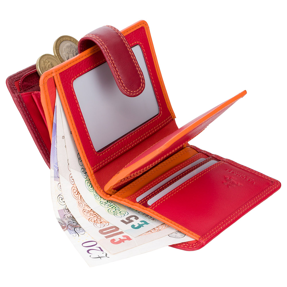 Женский кошелек Visconti RB40 с RFID - Bali (Red Multi)