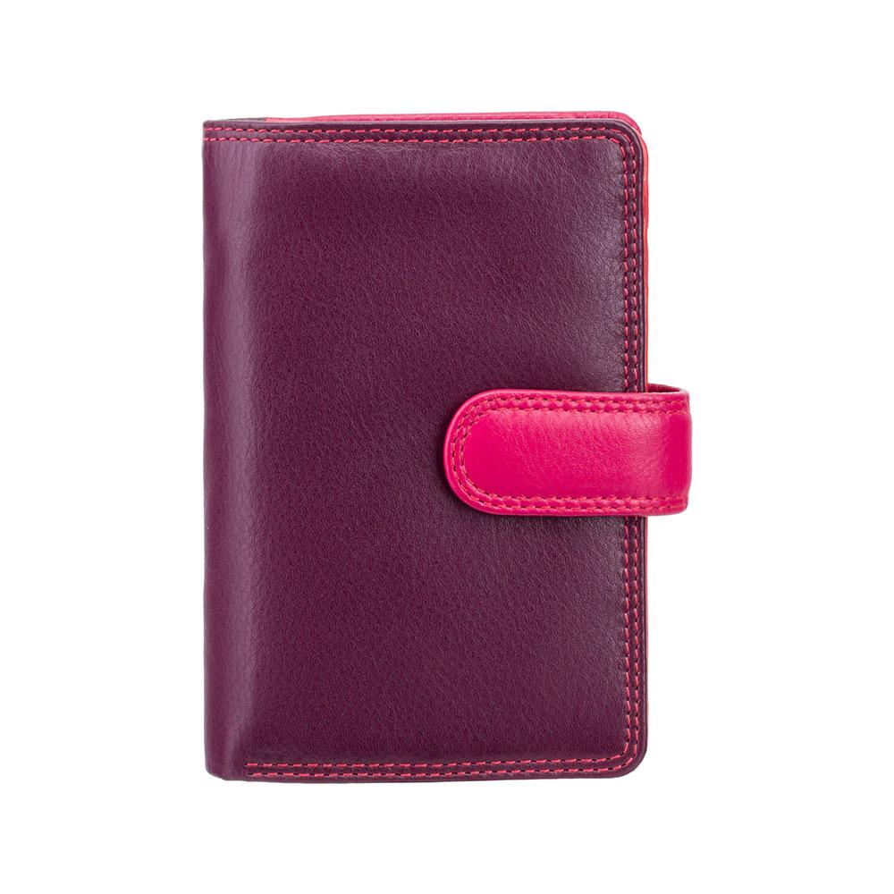 Женский кожаный кошелек Visconti RB51 - Fiji (plum multi)