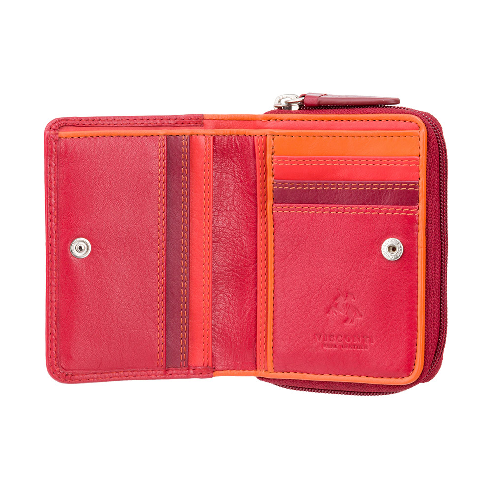 Женский кошелек Visconti RB53 - Hawaii (Red Multi)