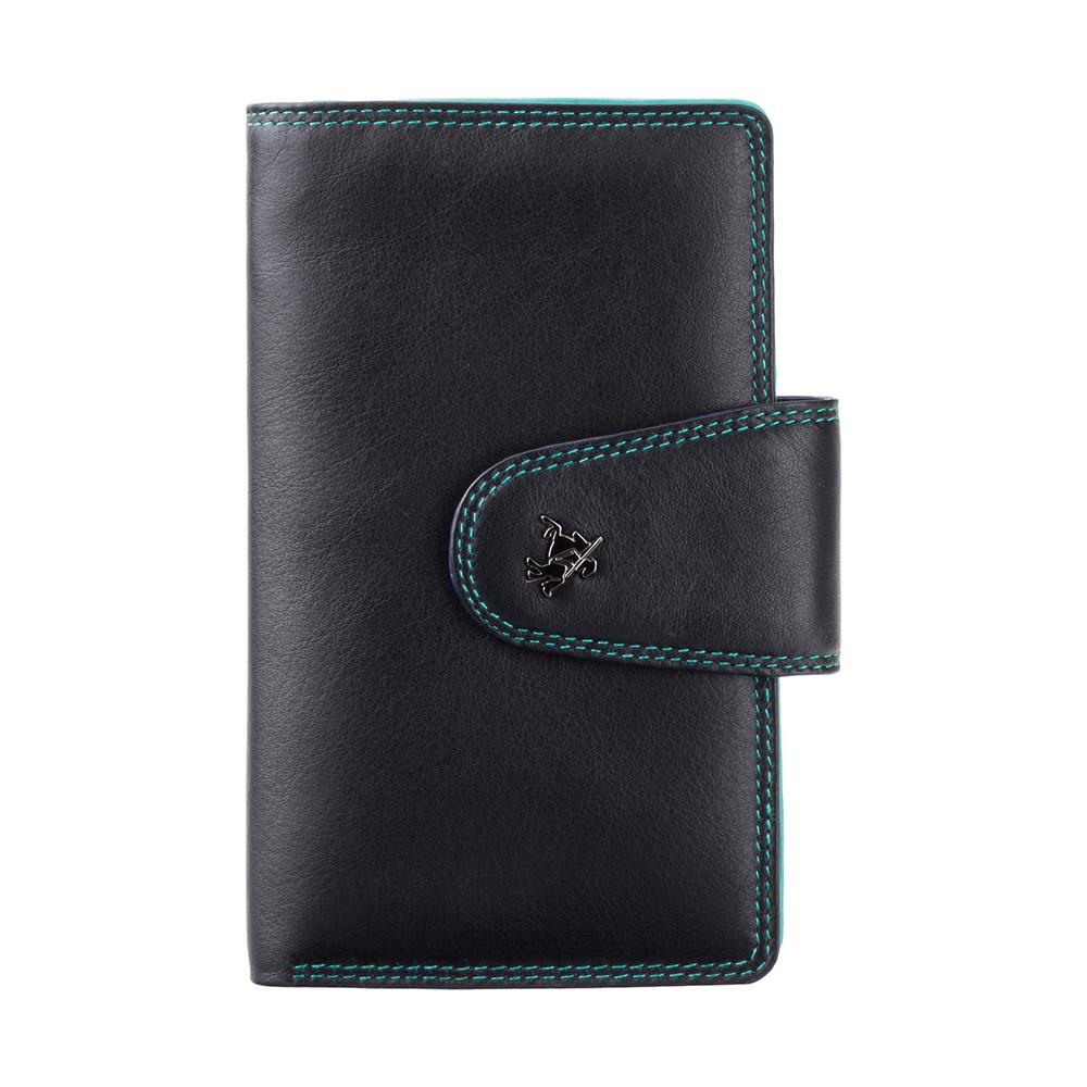 Женский кошелек на застежке Visconti SP30 Ylang (black/multi)