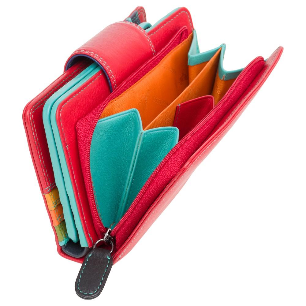 Женский кошелек на застежке Visconti SP30 - Ylang (red/multi)