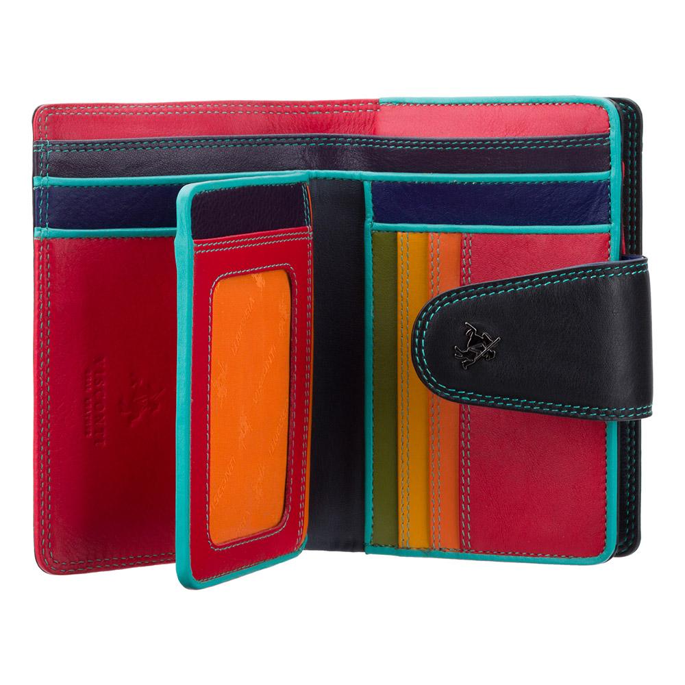 Женский кошелек на застежке Visconti SP31 - Poppy (black/multi)