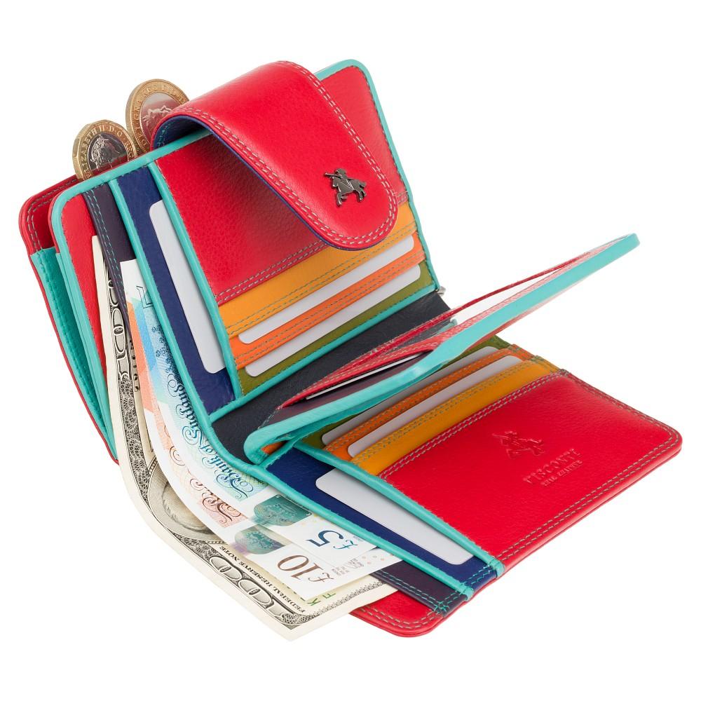 Женский кошелек Visconti SP31 Poppy с защитой RFID (red/multi)