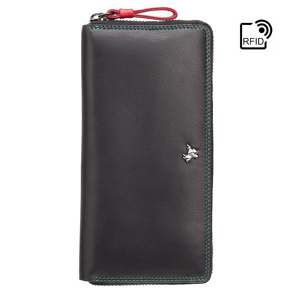Женский кошелек-клатч на молнии Visconti SP79 - Violet (black/multi)
