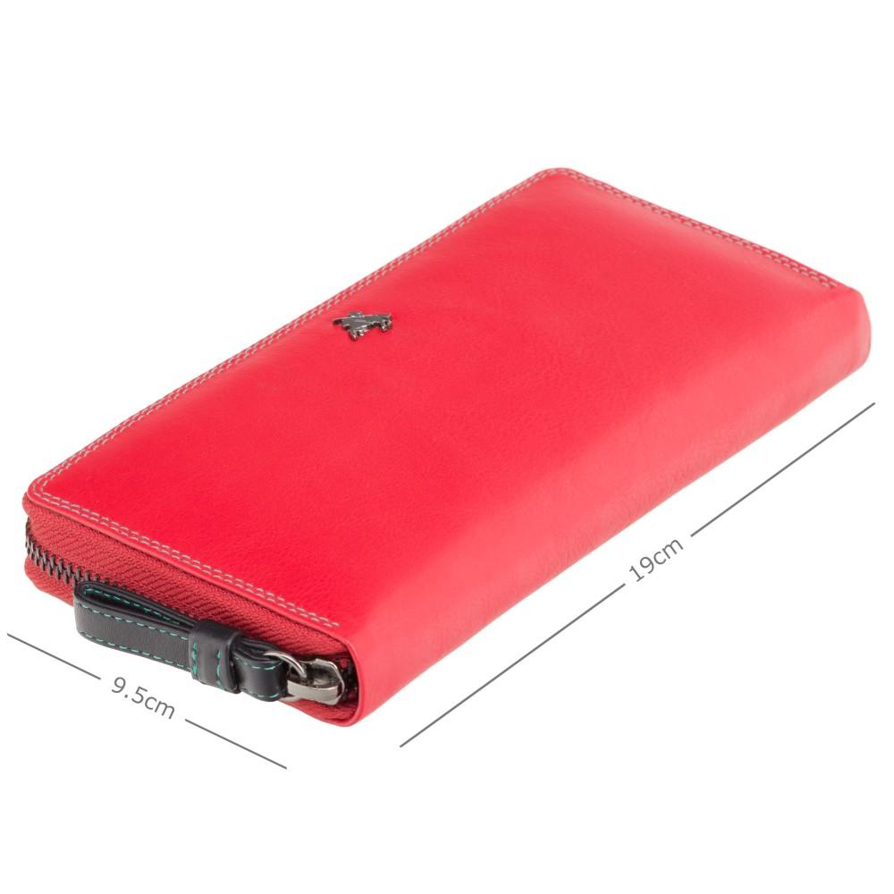 Женский кошелек-клатч на молнии Visconti SP79 Violet с защитой RFID (red/multi)