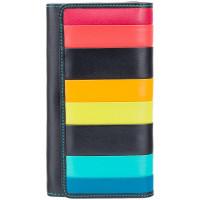 Женский кожаный кошелек Visconti STR4 c RFID Kos (Black Multi)